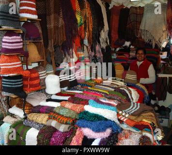 Typical Original market in El Calafate Argentina Patagonia - Stock Image