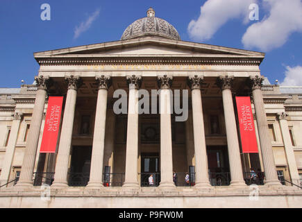 Facade of the National Portrait Gallery London - Stock Image