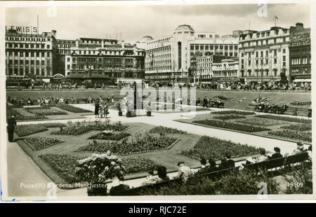 Piccadilly Gardens, Manchester. - Stock Image