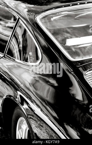classic car black and white - Stock Image