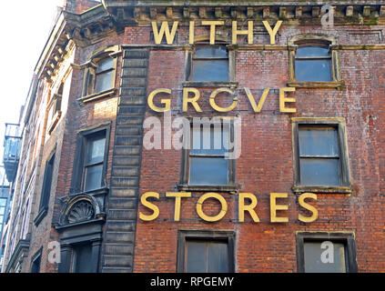 Withy Grove Stores, Office Equipment,Shude Hill, Manchester City Centre, Lancashire, North West England, UK - Stock Image