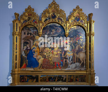 Adoration of the Magi, Christ in Judgement, the Annunciation, and Prophets, The Nativity, the Flight into Egypt and the Presentation in the Temple, Ge - Stock Image