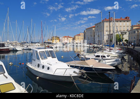 Waterfront in the Slovenian town of Piran - Stock Image