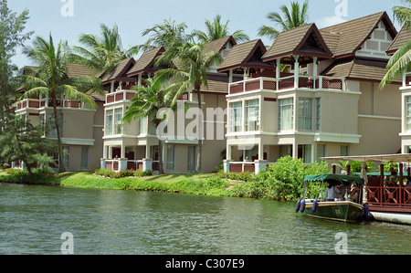 Modern resorts along riverbank in Phuket, Thailand - Stock Image