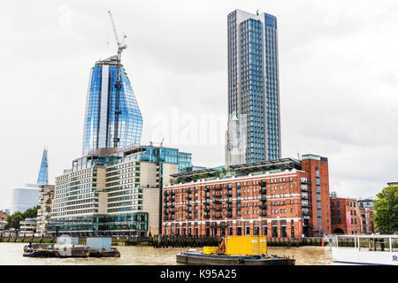 Sea Containers House, Oxo Tower Wharf and the South Bank, London, UK, Oxo tower, oxo tower building, London South - Stock Image