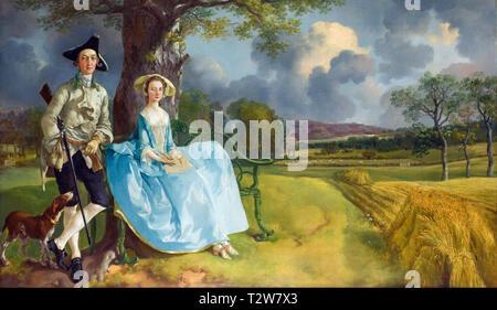 Thomas Gainsborough, Mr and Mrs Andrews, portrait, c. 1750 - Stock Image