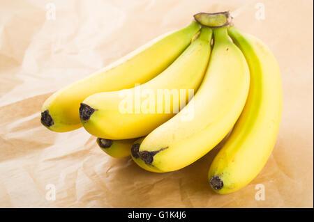 Fresh organic bananas - Stock Image