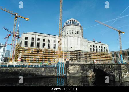 Stadschloss Berlin construction site - Stock Image