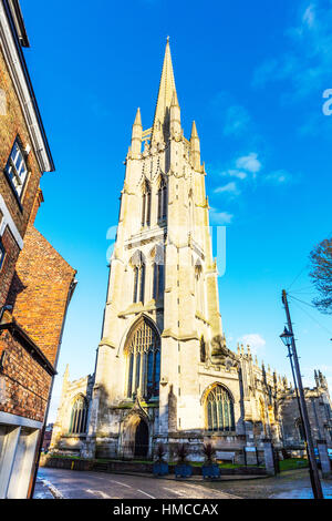 St. James's has the tallest spire of any medieval parish church in the country. It is a magnificent 15th century - Stock Image