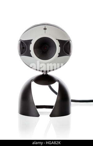 Video Webcam front view isolated on a white background - Stock Image