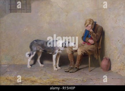 Fidelity, The Prisoners, Briton Riviere, 1869, Lady Lever Art Gallery, Port Sunlight, Liverpool, England, UK, Europe - Stock Image