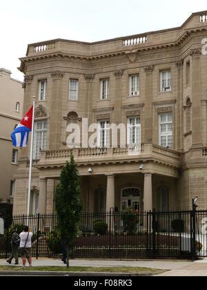 New Cuban embassy Washington D C - Stock Image