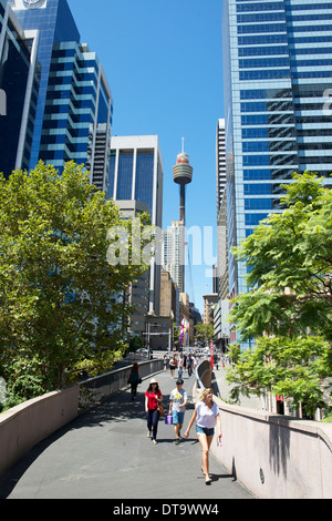 Sydney Tower in the CBD Sydney Australia - Stock Image