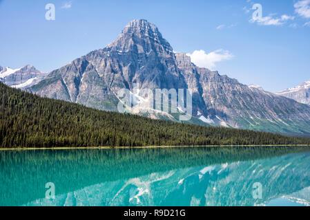 Waterfowl Lakes, Icefields Parkway, Alberta. - Stock Image