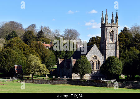 St Nicholas Church, Chawton, near Alton, Hampshire, UK. - Stock Image