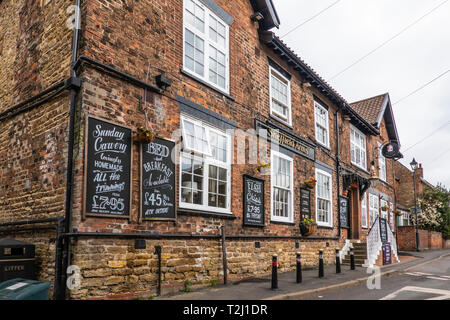 The Sheffield Arms,Pub,Restaurant,Burton upon Stather,Scunthorpe - Stock Image