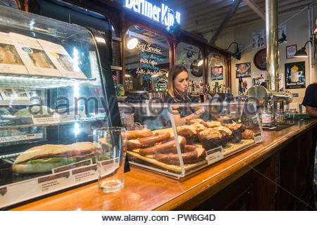 Berlin bistrot at airport lounge - Stock Image