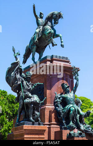 Monument at San Martin Square, in Buenos Aires, Argentina - Stock Image