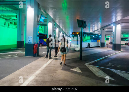 Avignon, FRANCE, People Traveling in Public Bus Terminal - Stock Image