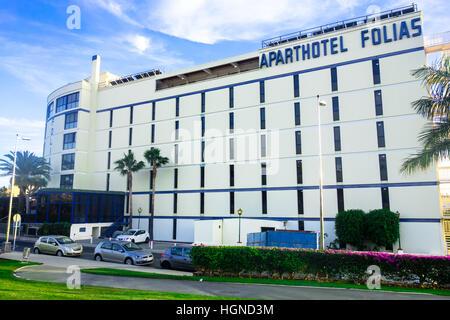 Aparthotel Folias. An apartment hotel in Maspalomas, Las Palmas, Gran Canaria, Spain - Stock Image