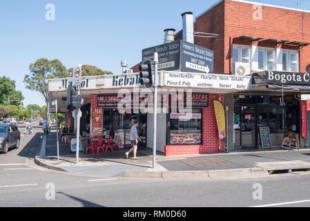 Mascot Kebabs and Pides on Botany Road, Mascot, Sydney, Australia - Stock Image