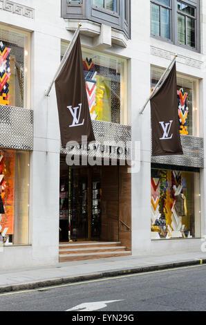 The Louis Vuitton Store, Bond Street, London, England, UK - Stock Image