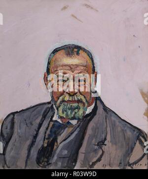 Self-Portrait, Ferdinand Hodler, 1916, Zurich Kunsthaus, Zurich, Switzerland, Europe - Stock Image