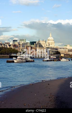 River Thames, Southbank, London, United Kingdom - Stock Image