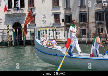Vogalonga Regatta, Venice, Italy - Stock Image