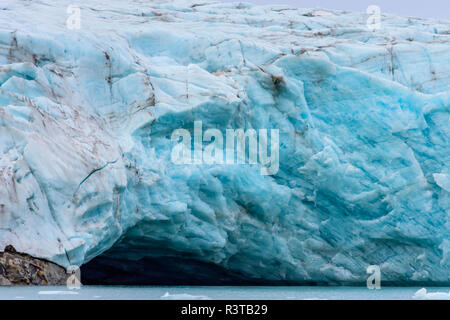 Greenland. East Greenland. Liverpool Land. Warming Island. Face of a glacier. - Stock Image