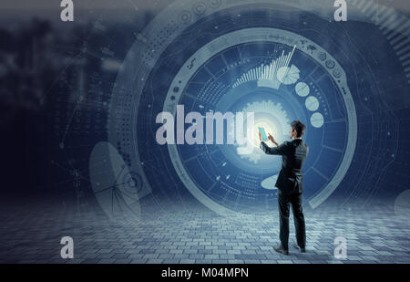 business and technology concept, financial technology, Internet of things, abstract image visual - Stock Image