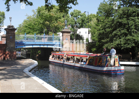 Canal Boat at Little Venice London summer 2010 - Stock Image