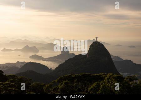 View from Sumaré Mountain in Rio de Janeiro, Brazil - Stock Image