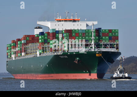 Triton in Hamburg - Stock Image