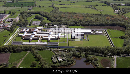 aerial view of HMP Garth near Preston, Lancashire - Stock Image
