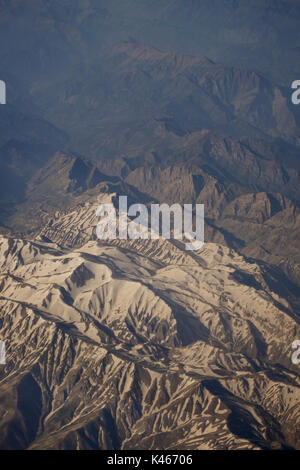 Iranian mountains from the air. - Stock Image
