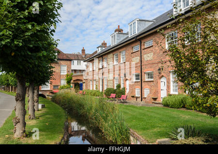 Homes in Old Amersham, Amersham, Buckinghamshire, England, UK. - Stock Image