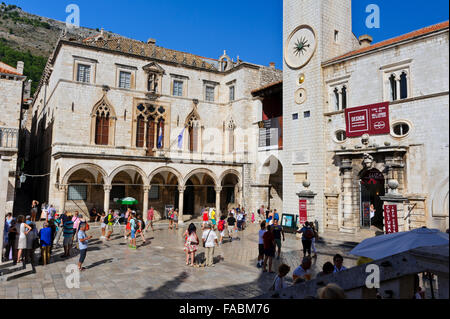 The Sponza Palace also called Divona is a 16th-century palace within the old fortress in Dubrovnik, Croatia. - Stock Image