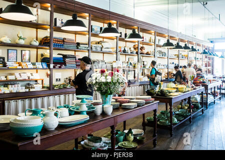 Interior of A Vida Portuguesa, a beautiful store selling Portuguese products, Clérigos, Porto, Portugal. - Stock Image