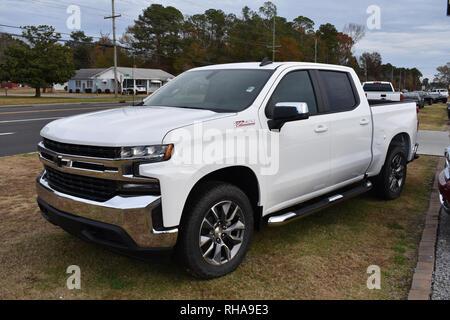2019 Chevrolet Silverado Pickup Truck Z71. - Stock Image