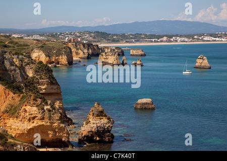 Portugal, Algarve, Lagos, Meia Camilo, Coastline - Stock Image