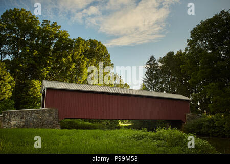 Forry's Covered Bridge, Amish Country, Columbia, Lancaster County, Pennsylvania, USA - Stock Image