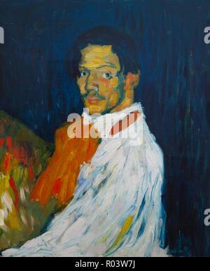 Self-Portrait, Pablo Picasso, 1901, Zurich Kunsthaus, Zurich, Switzerland, Europe - Stock Image
