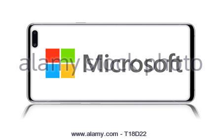 Microsoft logo - Stock Image