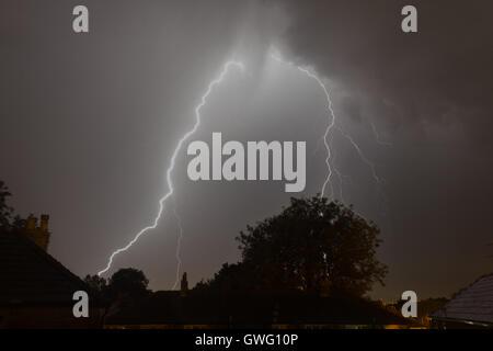 Bolton, Lancashire, UK. 13th September, 2016. UK Weather. Bolton, Lancashire. 13th September 2016. Massive storms - Stock Image