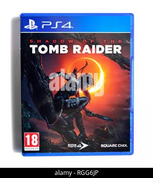 PS4 video game Shadow of the Tomb Raider - Stock Image
