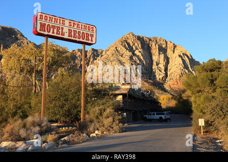 Bonnie Springs Ranch Motel in Red Rock Canyon not far from Las Vegas, Nevada - Stock Image