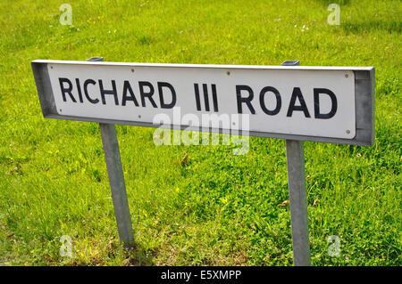 Richard III Road, road name sign, Leicester, England, UK - Stock Image