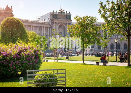 View to Neue Burg in Vienna, Austria - Stock Image