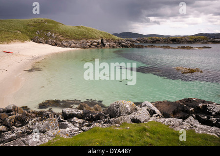 Temple Sands ( Traigh an Teampaill ) on the island of Little Bernera - Stock Image